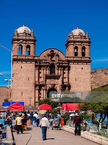 la compania de jesus church in cuzco, peru - jesuit stock photos and pictures