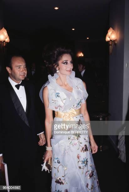 La comtesse Jacqueline de Ribes à l'anniversaire des 75 ans du restaurant Maxim's à Paris en 1968 France