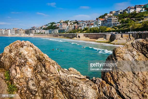 La Concha bay and beach in San Sebastian