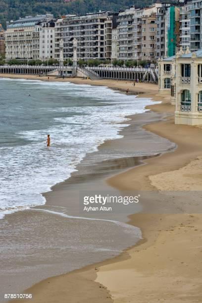 La Concha Beach,San Sebastian(Donostia),Basque Country,Spain