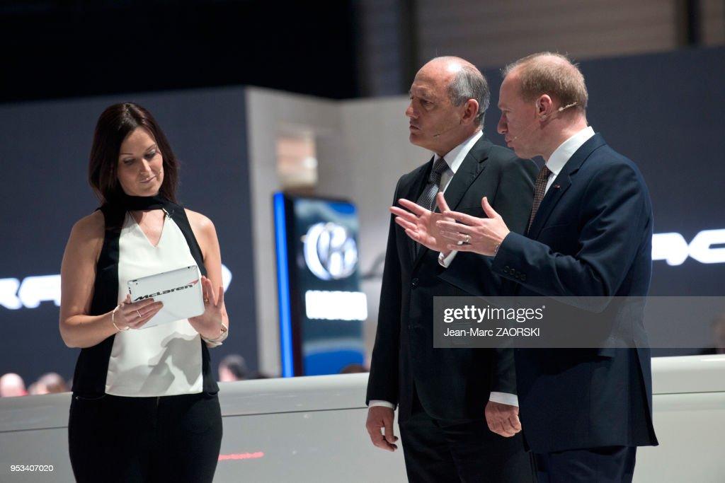 La conference de presse McLaren, avec Ron Dennis, Pdg du ...