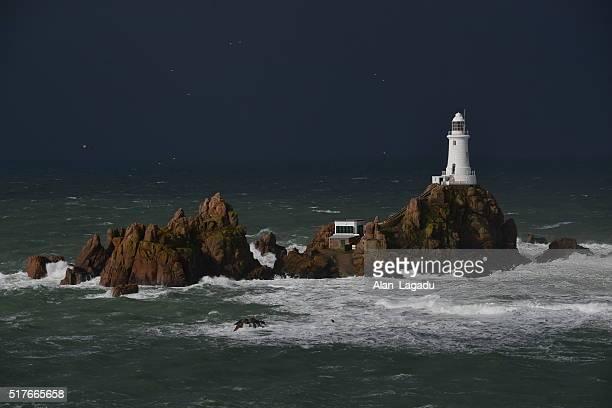 La Corbiere lighthouse, Jersey, U.K.