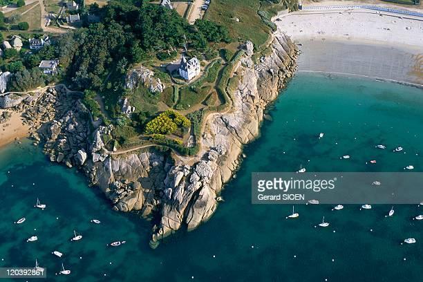 La Cote de Granit Rose in Tregastel, France - Brittany.