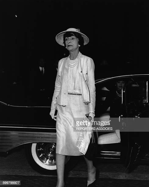La couturière Coco Chanel .