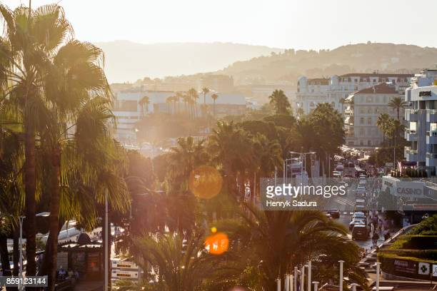 la croisette boulevard in cannes - cannes stock pictures, royalty-free photos & images