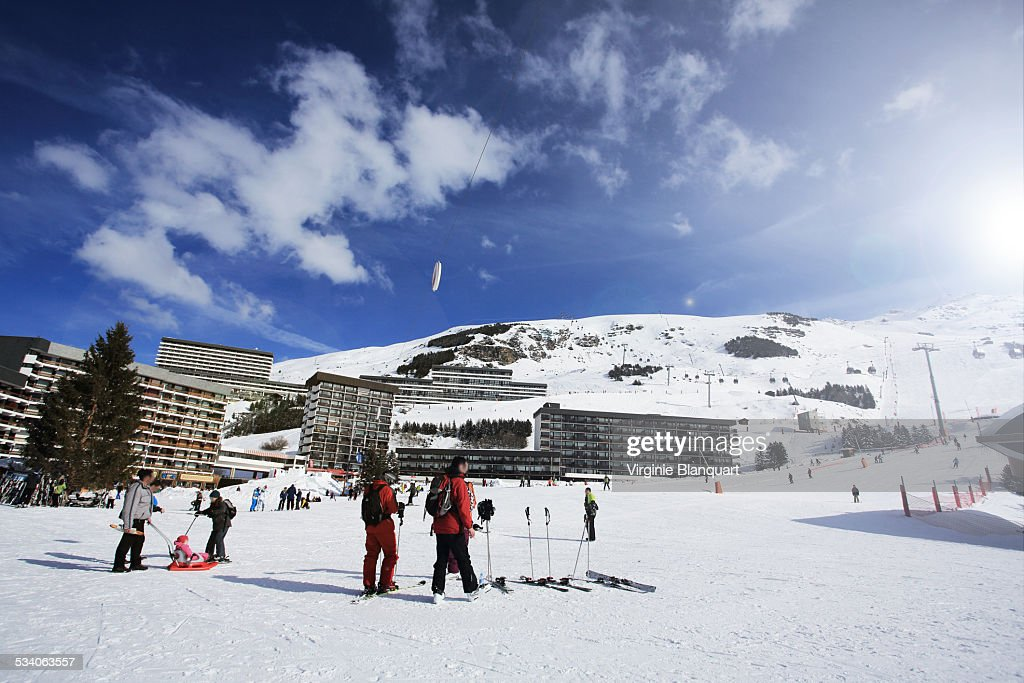 La croisette, Les Menuires, French Alps : Stock Photo