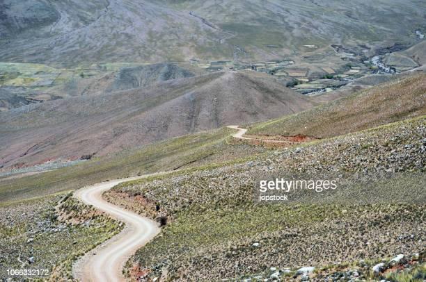 la cuesta del obispo road in salta province, argentina - サルタ州 ストックフォトと画像