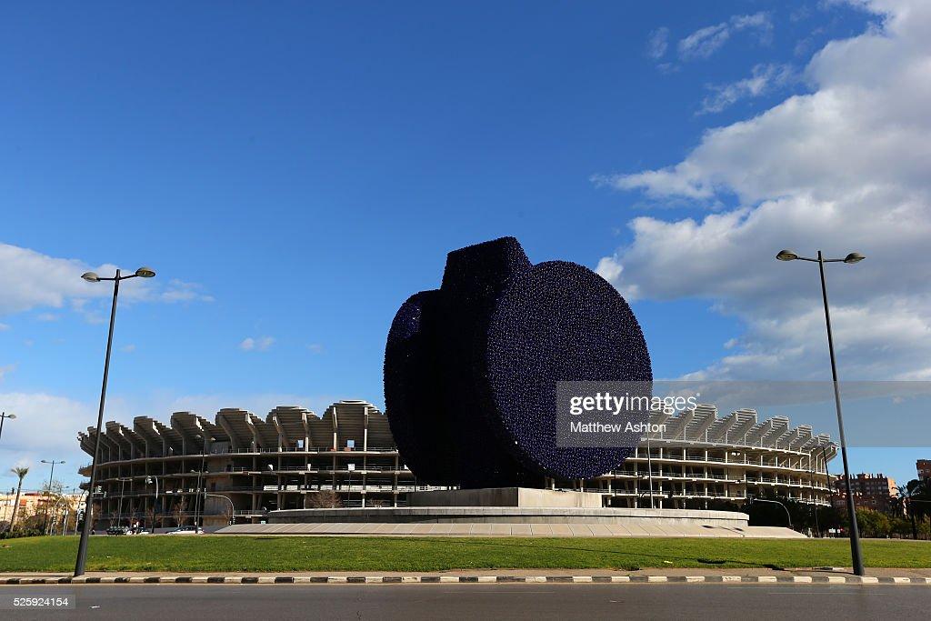 Soccer : Valencia New Stadium construction - Nou Mestalla : News Photo