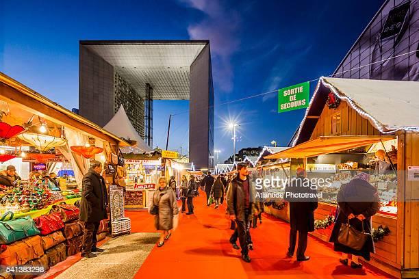 La Defense, Christmas market near the Grande Arche (architect Otto von Spreckelsen)