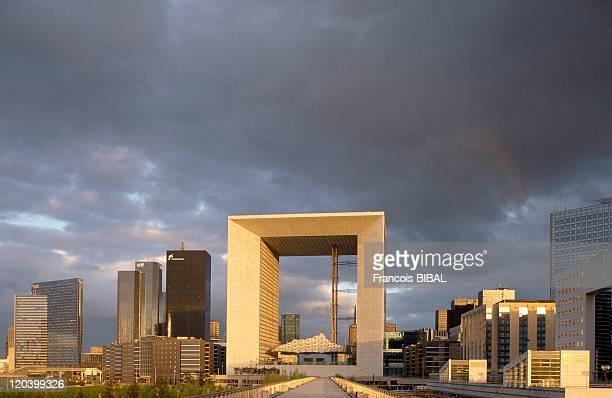 La Defense in Paris France Center of la Grande Arche