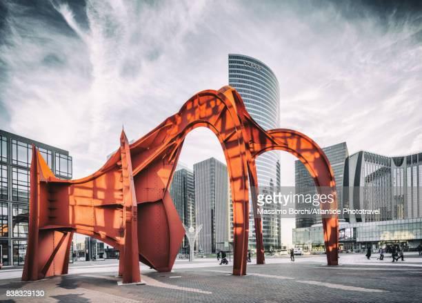 La Defense, the sculpture Red Spider