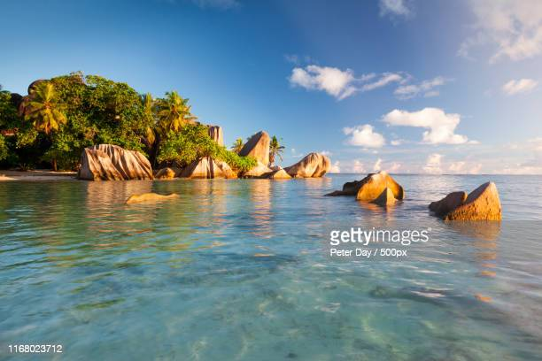 la digue, seychelles - la digue island stock pictures, royalty-free photos & images