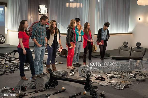 "La Dolce Arte"" Episode 207 -- Pictured: Contestants Sarah Kabot, Dusty Mitchell, Lola Thompson, Michelle Matson, Young Sun Han, Sara Jimenez, Kymia..."
