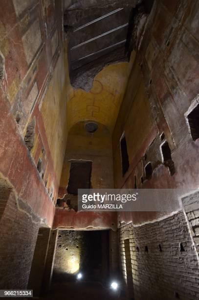 La Domus Aurea la 'Maison Dorée' le le 23 octobre 2014 aujourd'hui souterraine de l'empereur Néron à Rome Italie Fermée depuis2005 la Domus Aurea...