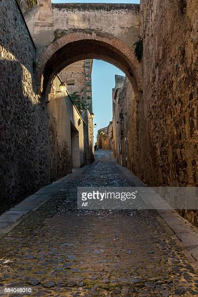La Estrella`s chemin de ronde in the Monumental City of Caceres - Spain