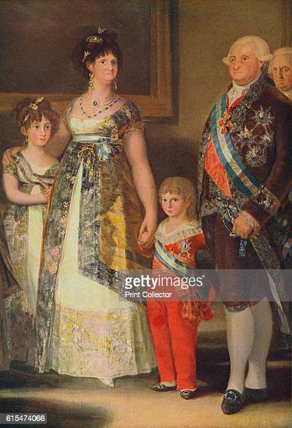 La Familia de Carlos IV ' Portrait of the family of King Carlos IV painted in Aranjuez and Madrid in the spring and summer of 1800 Queen Maria Luisa...