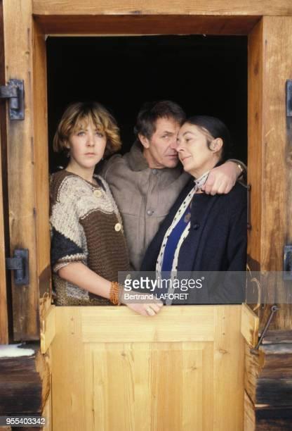 La famille Bennent deux generations de comediens en vacancesHeinz Bennent le pere de Anne et David et son epouse Diane le 4 janvier 1984