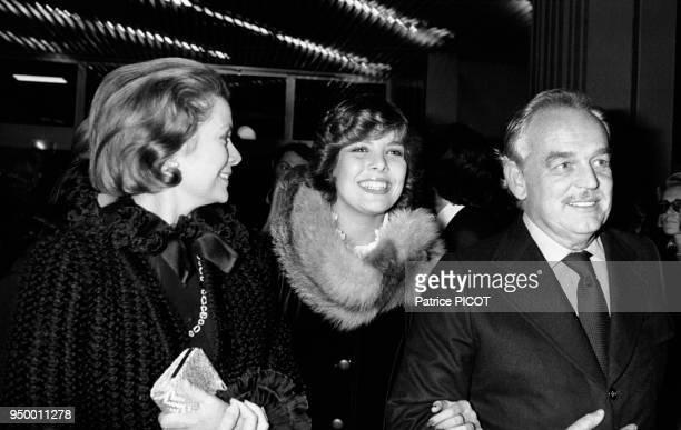 La famille princière de Monaco lors de la projection du film Le Cuirassé Potemkine à Monaco le 10 octobre 1975
