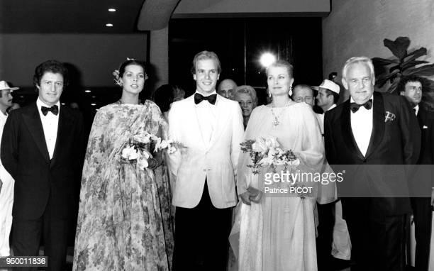 La famille princière de Monaco lors du gala de la Croix-Rouge à Monaco, le 7 août 1978.