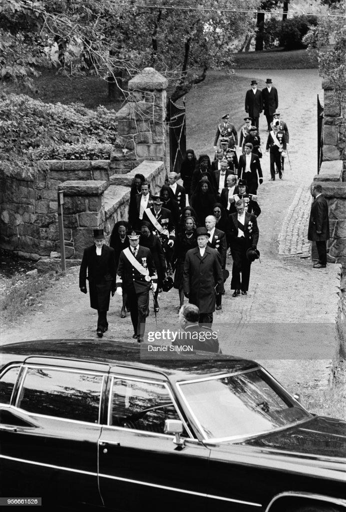 Obsèques du roi Gustav V de Suède en 1973 : News Photo