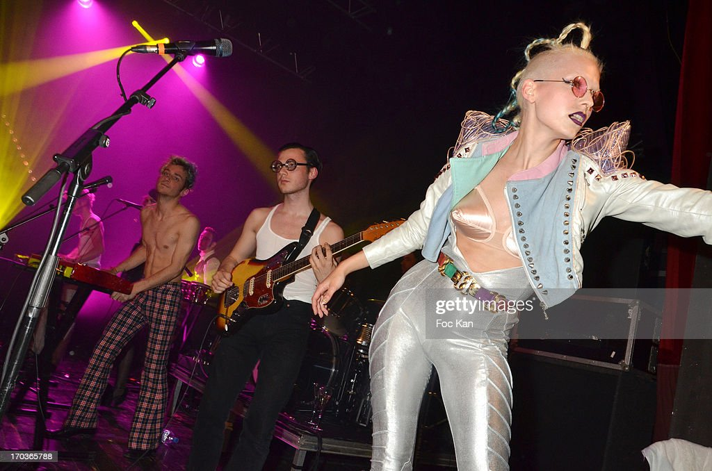 La Femme band performs during the 'Battle Rock' Party At The Trianon Theatre on June 11, 2013 in Paris, France.