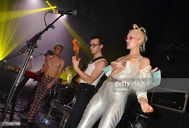 La Femme band performs during the 'Battle Rock' Party At The Trianon Theatre on June 11 2013 in Paris France