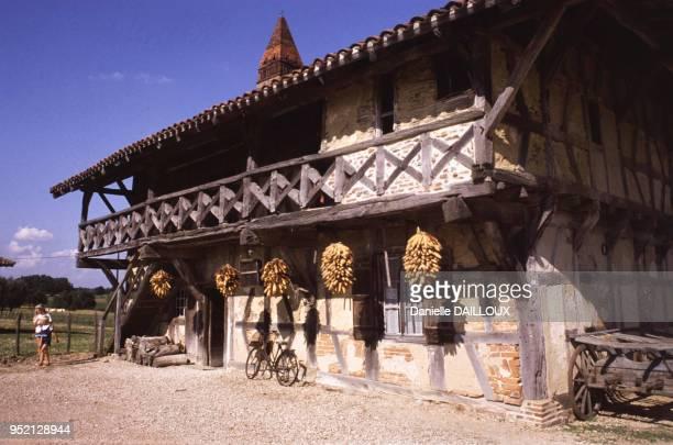 La ?Ferme Musée de la Forêt? à Saint-Trivier-de-Courtes, en juillet 1988, dans l'Ain, France.