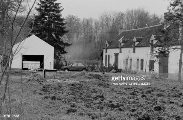 La ferme ou furentt arrété les membres du groupe 'Action Directe' JeanMarie Rouillan Joelle Aubron Nathalie Menigon et Georges Cipriani à...