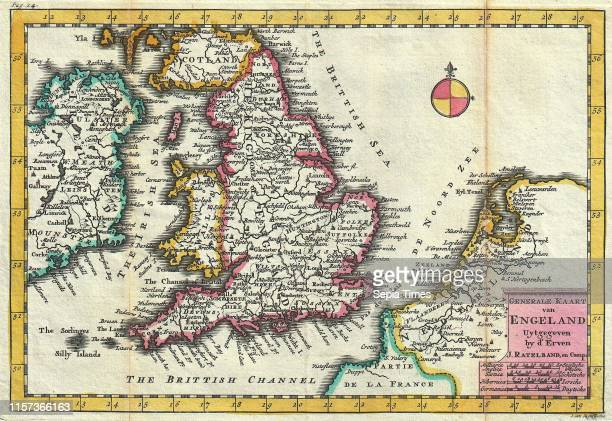 1747 La Feuille Map of England