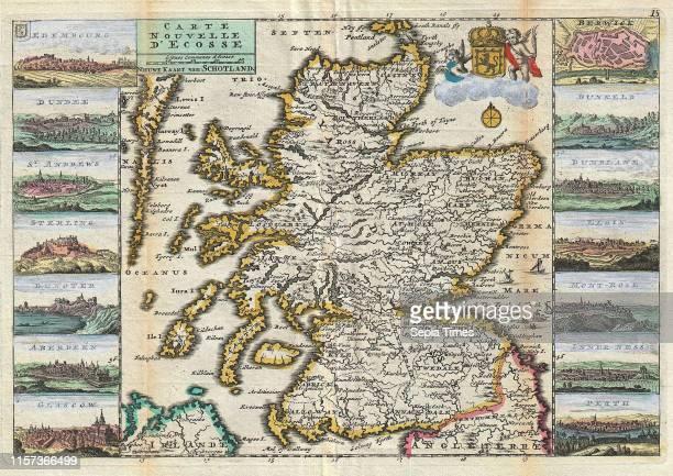 1747 La Feuille Map of Scotland