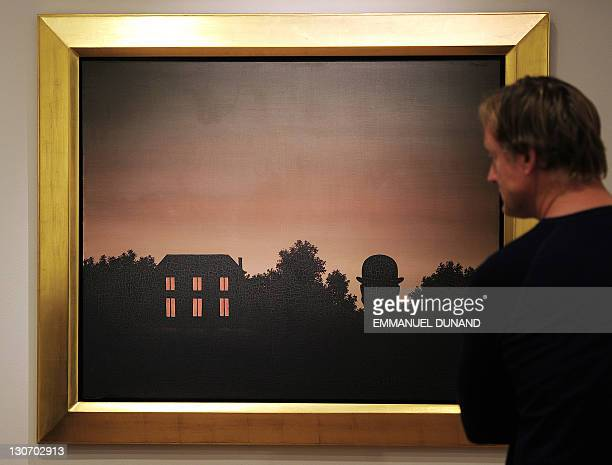 'La Fin du Monde' by Rene Magritte is on display at Christie's during a preview of their Impressionist and Modern Art sale in New York October 28...