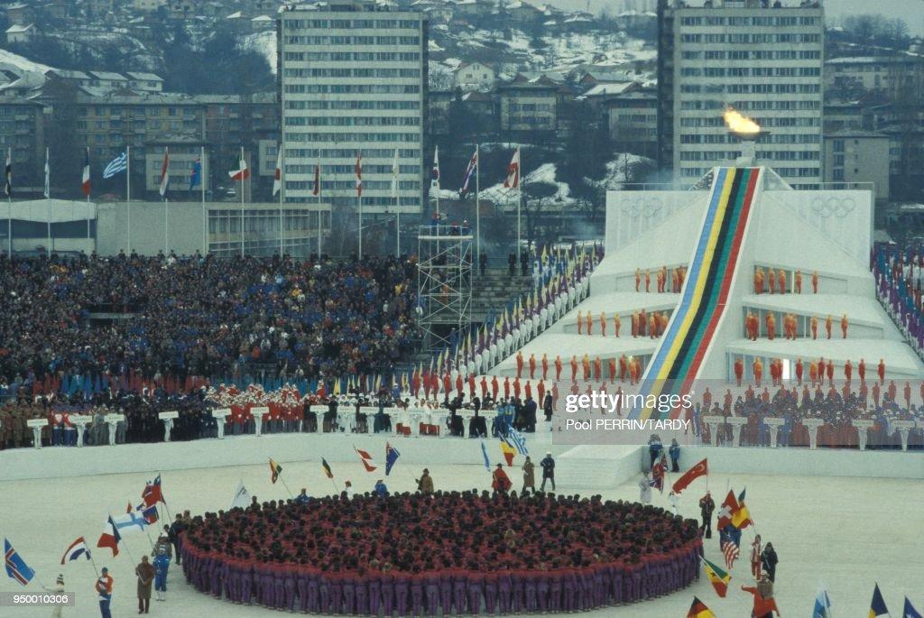 Ceremonie D'Ouverture Des JO D'Hiver De Sarajevo : News Photo