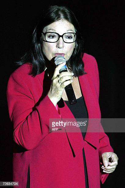 FILES Picture taken le 19 June 2004 shows Nana Mouskouri the most international renowned Greek singer singing in La Fleche central France 72yearold...