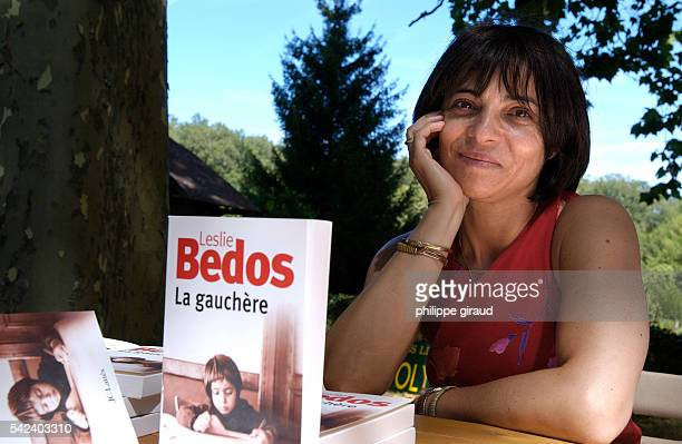 La Foret des Livres is organized by Gonzagues St Bris in Chanceaux sur Loches where a hundred of authors including Leslie Bedos sign their latest...