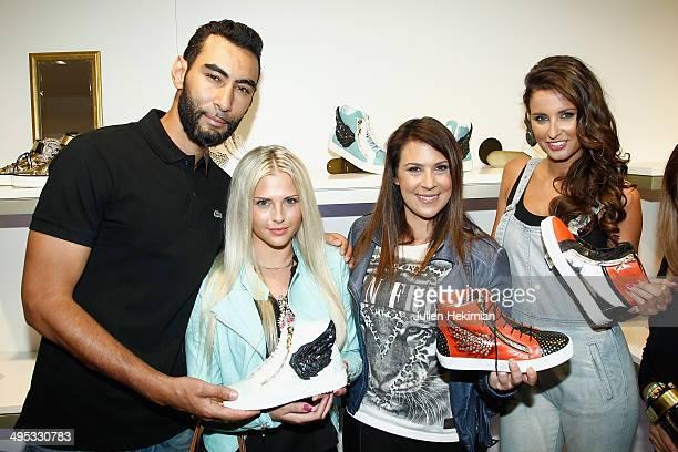 La Fouine, Kelly Vedovelli, Marion Bartoli and Miss France 2010 Malika Menard attend Marion Bartoli By Musette Launches 'Premier Envol' Collection on...