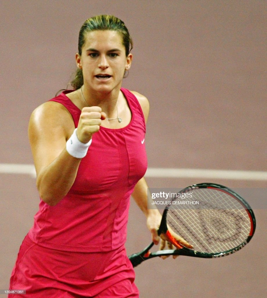 TENNIS-WTA-CR-MAURESMO : News Photo