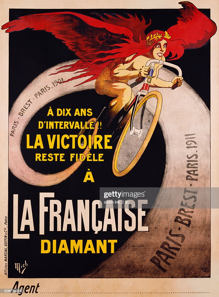 Colored Frames - Cycling Posters From Yesteryear