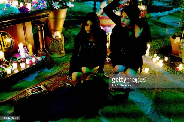 """La Fuerza"""" Episode 304 -- Pictured: Sandy Valles as Isabella Vargas, Veronica Falcon as Camila --"""