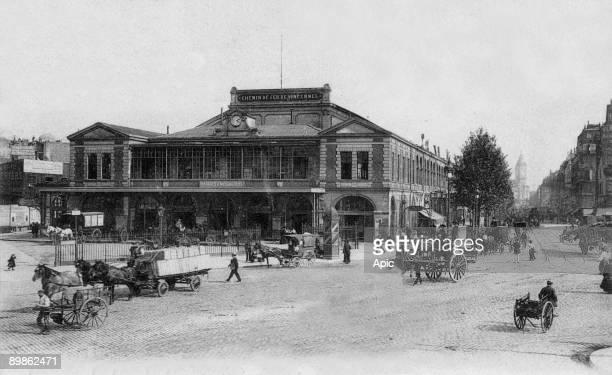 La gare de Vincennes Place de la Bastille in Paris in the 12th arrondissement c1900