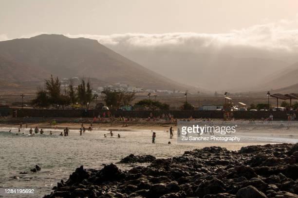 la garita beach in lanzarote - lanzarote stock pictures, royalty-free photos & images