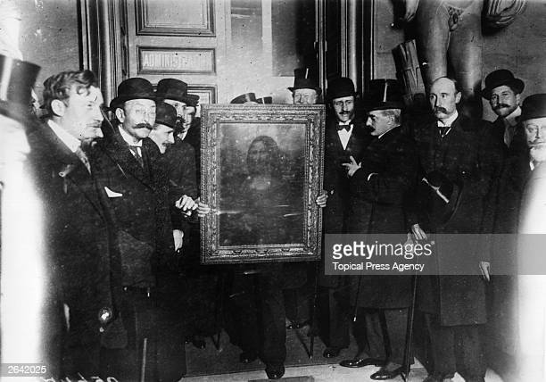 La Giaconda or the Mona Lisa painted by Leonardo Da Vinci is returned to the School of Fine Arts Paris
