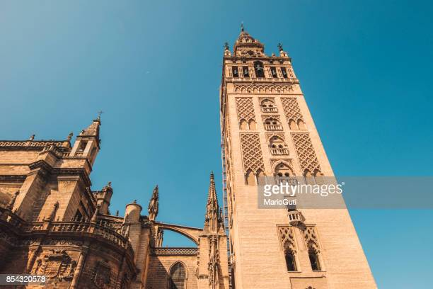 la giralda, seville, spain - bell tower tower stock pictures, royalty-free photos & images