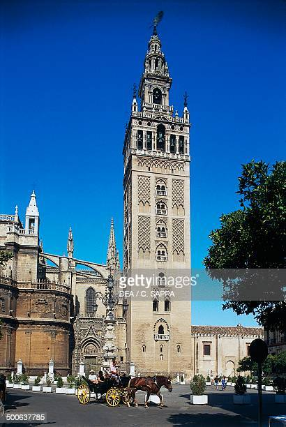 La Giralda the bell tower of Seville Cathedral Andalusia Spain 12th16th century