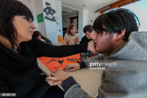 La Gloriette in Naples city the house seized by the police of the Mafia boss Michele Zaza and now become multipurpose center for children with...