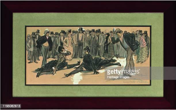 La Goulue and Valentin le Désossé at a Ball in the Moulin Rouge , 1890. Found in the Collection of Collection de David E. Weisman et Jacqueline E....