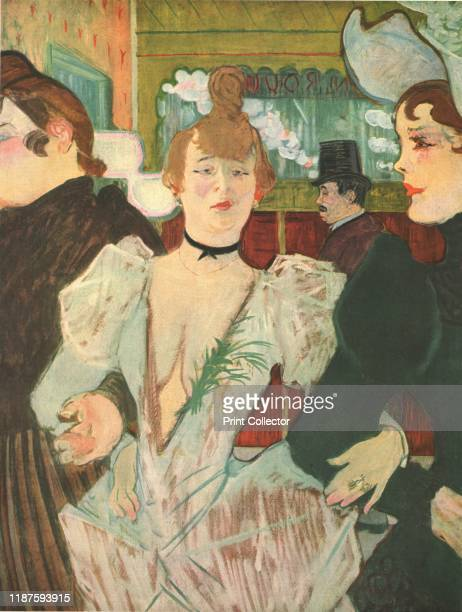 La Goulue at the Moulin Rouge' . French can-can dancer Louise Weber, known as La Goulue, at the famous Paris nightclub. On the left is sister, with...