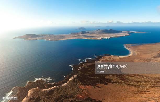 La Graciosa island panorama, Lanzarote, îles Canaries