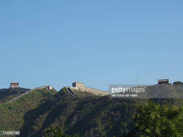 la gran muralla china badaling. - muralla stock photos and pictures