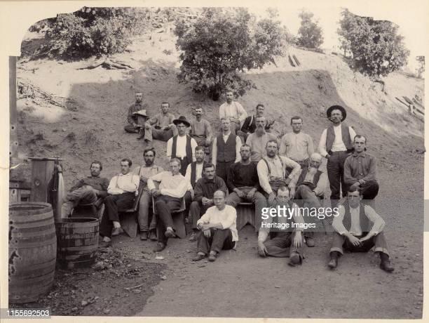 La Grange Mine Crew, California, 1900s. Private Collection. Artist Anonymous.