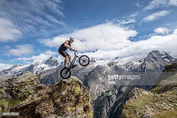 La Grave Anthony Grenier crosscountry mountain biker who won the Junior title of the European Bike Trial Championships also Team World viceChampion...